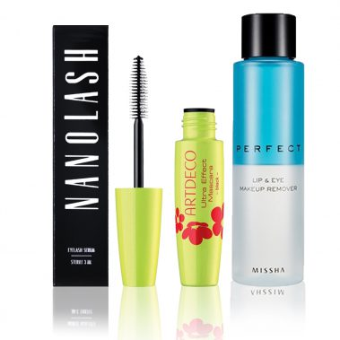 Nanolash + MISSHA Perfect Lip & Eye Make-Up Remover 155 ML + ArtDeco Ultra Effect Mascara Black 8 ml