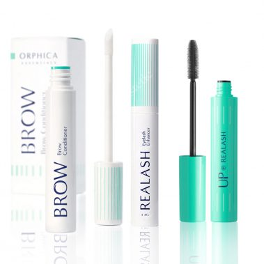 Orphica Realash Eyelash Enhancer 3 ml + Orphica Brow Conditioner 4 ml + Orphica Up Mascara 6 ml