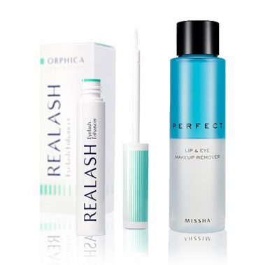 Orphica Realash Eyelash Enhancer +MISSHA Perfect Lip & Eye Make-Up Remover