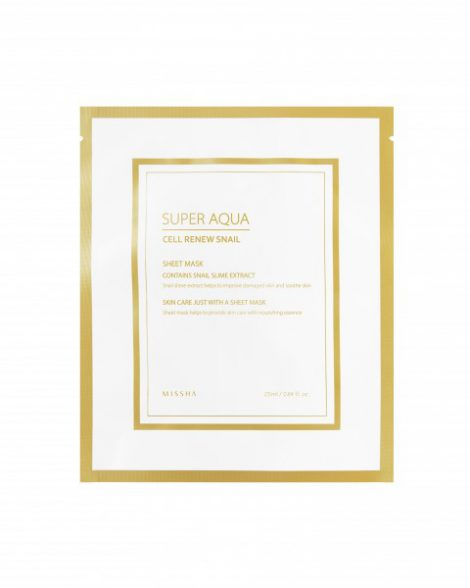 MISSHA Super Aqua Cell Renew Snail Hydro Gel Mask Miss Eco