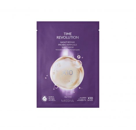 MISSHA Time Revolution Night Repair Probio Ampoule Sheet Mask Miss Eco