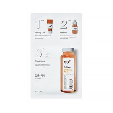 MISSHA 3step Whitening Mask Miss Eco