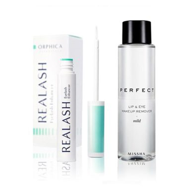 Orphica-Realash-Eyelash-Enhancer-Serum-do-Rzęs-4-ml-+-MISSHA-Perfect-Lip-&-Eye-Make-Up-Remover-Płyn-do-Demakijażu-155-ml-misseco